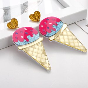 Lovely Pink Cream Big Drop Earrings Personality Funny Long Dangle Earring For Women Girl Fashion Jewelry Pendientes