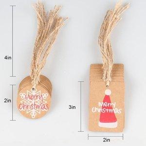 Cartes de Noël Festival d'hiver Cadeaux de voeux Cadeaux Carte Bonne carte de vacances Invitations Décor Santa Santa Hat Noël Tree Snowflake Ewe2026