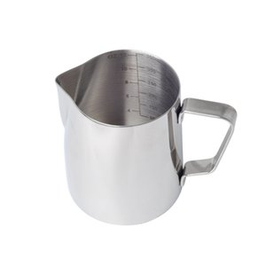 Чашка кофе инструмент офиса с масштабными Silver вспенивания молока Кувшин Latte Art Gift