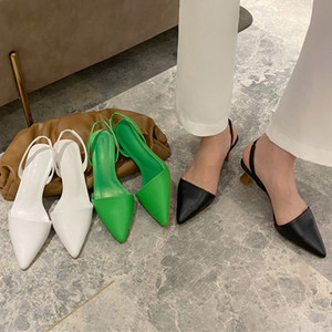 Woman Pumps Baotou Ladies Thin High Heels Women's Shoes Pointed Sandals For Female Slides Casual Lady Slipper Outdoors Flip Flop
