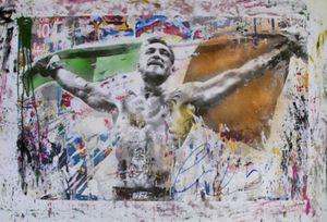 Mr Brainwash Connor McGregor Flag Home Decor dipinto a mano HD Dipinti Stampa Olio Su Tela Wall Art Immagini 200809