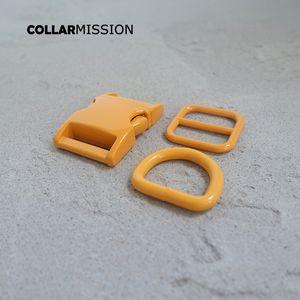 Розничная торговля (металлическая пряжка + отрегулируйте пряжку + D кольцо / набор) DIY собака воротник оранжевый 20 мм стекающий швейная аксессуар аксессуар краски