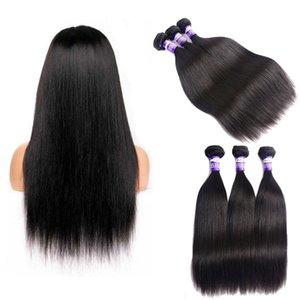 100% Unprocessed Brazilian Virgin Human Hair Natural Black Silky Straight Hair Weaving Weave Wefts 100g Bundles Extension