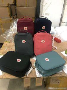 Novo padrão de Lunch Box Mochilas isolamento Bag Grosso fita impermeável almoço Bag Lunch Mochilas Homens e Mulheres Waterproof piquenique ao ar livre