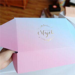 300pcs / lot Kundenspezifische Qualitäts-E-Welle Wellpappstanzpackung Box Versandkartons Geschenkverpackung Mailer Boxen aufgedrucktem Logo