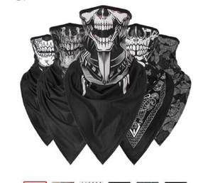 Uomini Ragazze traspirante Sport Red Skull Bandana Scarf Face Ski triangolo Sciarpa Pesca escursionismo Jogging Buff copertina fascia sottile