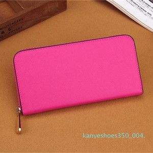 k04 2020 free shipping Wholesale lady long wallet multicolor coin purse Card holder original womens classic zipper pocke
