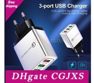 Usb carregador de parede Carregador Rápido Qc 3 .0 rápida Fast Charge carregamento 3 portas USB 3 .1a carregamento rápido para Smartphone HTC Huawei