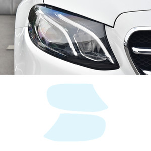 Car Front Rear Lamp Headlight Protector Film Smoked Black Sticker Exterior Accessories for Mercedes-Benz E-Class W213 2016-2020