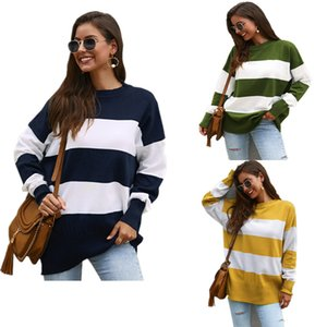 Outono Inverno listrado de Mulheres pulôver Blusas Oversize solto Hoodies S-XL Sports Casual Tops Quente Outwear Boutique Roupa LY9031