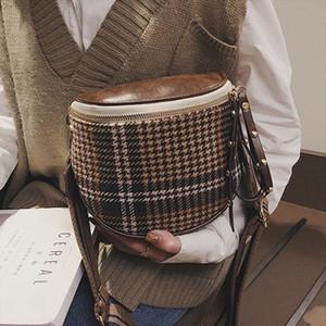 Vintage Crossbody Bag For Women 2020 Handbags Designer Ladies Hand Lattice Shoulder Messenger Bag Sac A Main Female Sling