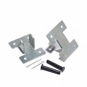 2pcs Silver Silver Tiguelle à poussée électrique Moteur robuste d'actionneur linéaire support DC Moteur de montage portable