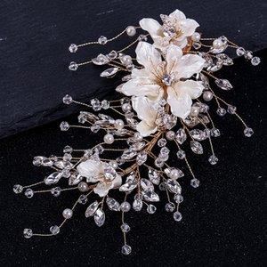 YRpLY Tuanming xinniang Blume Hairpin handgewebte Braut Hochzeit Tuanming xinniang Kristallschmuck Kristall Kopfschmuck Blume Hairpin headdres