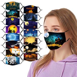 Cara de Halloween cara de diseño máscara máscaras de Navidad cráneo PM2.5 a prueba de polvo máscara 3D tridimensional se puede lavar y reutilizar máscara
