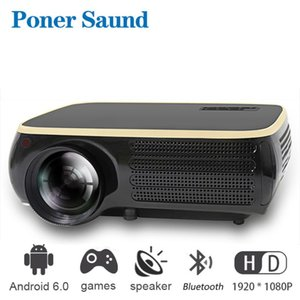 Poner Saund M8S Proyector 4k Portable Mini Projector for Iphone Full Hd 1920 * 1080P Android Movie Projector for Smart Home