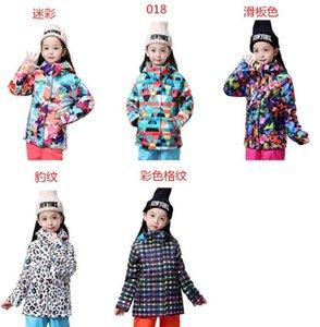 anorak kar ceket dağ tırmanma ceket kayak giysisi Çocuk leopar ski ceketler çocuk snowboard ceket çocuklar kayak