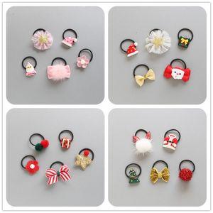 5pcs / ragazze fiorisce le clip del fumetto Hairring piccoli animali Bambini Bow sicuro Accessori per capelli Gift Set Fiore