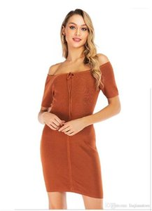 Women Dresses with Ribbon Solid Color Ladies Dress Sexy Women V Neck Bodycon Dresses Fashion Designer