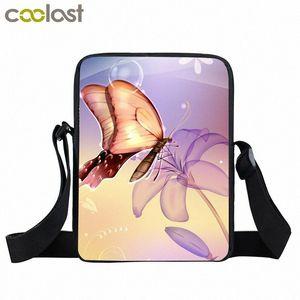 Beautiful Butterfly Mini Messenger Bag Women Little Handbags Children Shoulder Bags Boys Girls Cross Body Bag Kids Best Gift hTre#