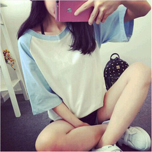2020 hot sale Summer new o-neck short sleeve T-shirt women's navel top sexy linda mujer Fashion and beautiful