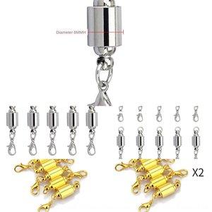 jOspP 8mm 팔찌 jointDIY lobstersilver 원통형 magneticround 강력한 자기 8mm 팔찌 jointDIY 액세서리 목걸이 액세서리 리터