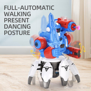 Dancing Robot Electronic Six Claws LED Light Music Simulate Intelligent Action Figure Octopussy Animal Educational Toys Boy Cartoon Gifts