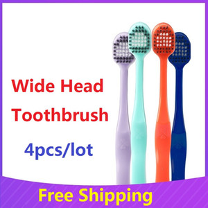Minisoft Antibacterial Tooth Brush Couples Portable Oral Hygiene Zero Waste Eco Friendly Travel Wide Head Toothbrush for Adult OWB1022