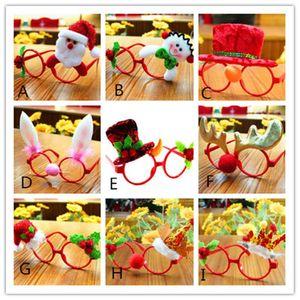 احتفالية عيد الميلاد الحلي نظارات إطارات ديكور المساء حزب لعبة أطفال الأرنب الهدايا DHF1539
