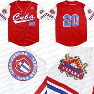Big Boy Cuba Latin Hegacy Homme Pour femmes Jeunesse Rouge Blanc 100% Jersey de baseball cousu