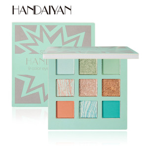 New Arrival 3 Colors HANDAIYAN Pearlescent Matte 9-Color Eyeshadow Palette Fine Powder DHL Free shipping