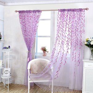 Floral SheerTulle Curtains For Living Room Girls Pastoral Window Curtain For Bedroom Simplicity Fresh Decoration Window Curtains