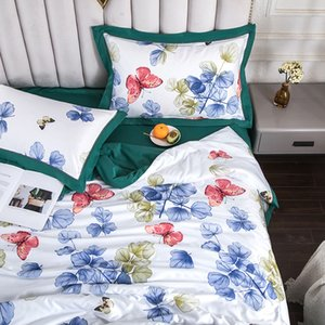 Tencel Summer Quilts High-quality Luxury Butterfly Print Air Conditioner Quilt Comforter Blanket Multi-color Optional #s
