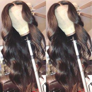 바디 웨이브 레이스 프런트 가발 HD 투명 레이스 정면 가발 (180) 밀도 물결 인간의 머리 앞 가발 T PART 헤미 브라질