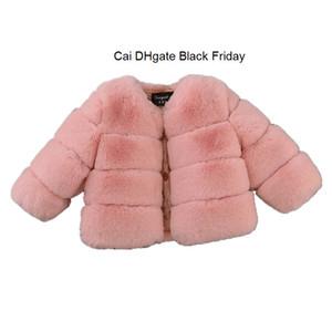 Fashion Girls Fur Coat Baby Kids Soft Faux Fur Jackets for Winter Thick Warm Parkas Children Outerwear Girls Boutique Clothes