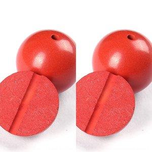 Высокая точность и серьга киноварь содержания половина Hole Loose бусы серьги аксессуары круглые бусины красные ушные аксессуары