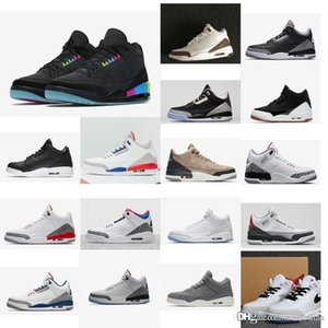 Retro new mens jumpman 3s NRG basketball shoes South Beach Multicolor 2020 aj3 air flights sneakers tennis with original box for sale