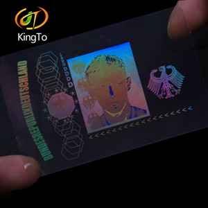 Personalizada transparente holograma PET superposición holográfica / etiqueta de holograma láser transparente