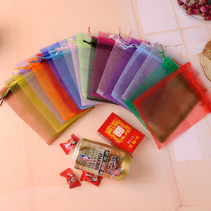 sacolas de presente Organza Jewelry Bag 17x23cm 50pcs Fabric Gift Bags sachet organza Gift Pouch Can Custom Logo