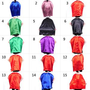 Lados dobles 15 diseños adolescente adulto Superhéroe cape + Mascarilla capas de tela de raso trajes de Navidad del partido de Cosplay Prop cabos de Halloween