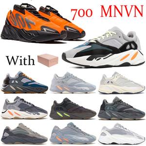 Nueva naranja sólido gris Runner 700 reflectante Triple Negro de Carbono Bone trullo Imán azul mujeres de los hombres zapatos de Kanye West de los zapatos corrientes 700 zapatillas de deporte