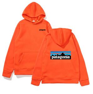 Moda con capucha para hombre de las mujeres Sweatershirt Patagonia sudaderas con capucha suéter Diseñador Montaña Manga Larga aptitud Sudaderas