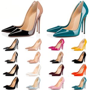 Christian Louboutin kutu toz torbası kırmızı tabanlar Yüksek topuklu toptan alt moda kadın rahat ayakkabı bağbozumu düğün üçlü luxe parıltı Elbise ani artış gösteriyor