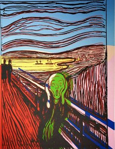 Andy Warhol The Scream - after Munch Home Decoration Oil Painting On Canvas Wall Art Canvas Home Decor Pictures For Living Room 200830