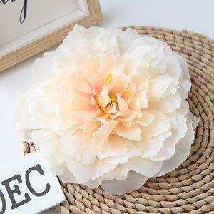 20PCS / lot de alta calidad 16cm decoración artificial del Peony de la flor de la simulación de la cabeza Cabeza del Peony de familia de la boda decoración flor del partido de bricolaje