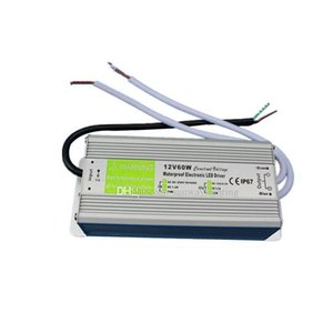 High Quality DC 12V 5A 60W Led Power Supply 20-300w Transformer Led Driver Adapter 90V-250V Waterproof Transformers constant voltage