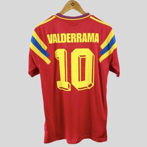 Retro Colombia 1990 dirige il calcio maglie Valderrama Escobar Futbol Camiseta Vintage Football Shirt Kit Classic Top