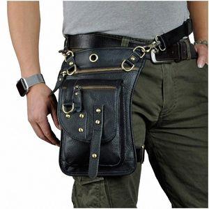 Leather Multifunctional Mens Travel Messenger Bag Messenger Bag Hook With Belt Waist Drop Leg Sports Mobile Phone Waist Pouch Kavu Rop 2ENh#