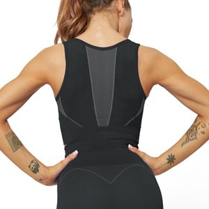 Female New Yoga Training Sports Bra Breathable Quick Dry Running Dance Workout Shirt Women Fitness Workout Jogging Vest Tops