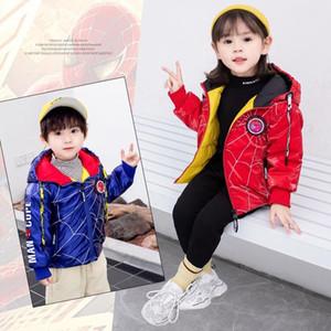 INS Kids Boys Girls Down Coat Winter Jackets Korean Hooded White Duck Down Kids Casual Zipper Warm Boy's Clothing Outwear