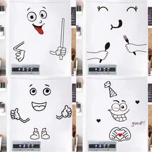 Cute Cartoon Expression Stickers Home Refrigerator Decoration Stickers Refrigerator Door Landscaping Stickers Home Decoration C0927